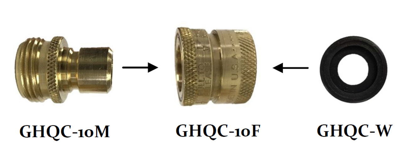 GHQC-10, Garden Hose Quick-Disconnect