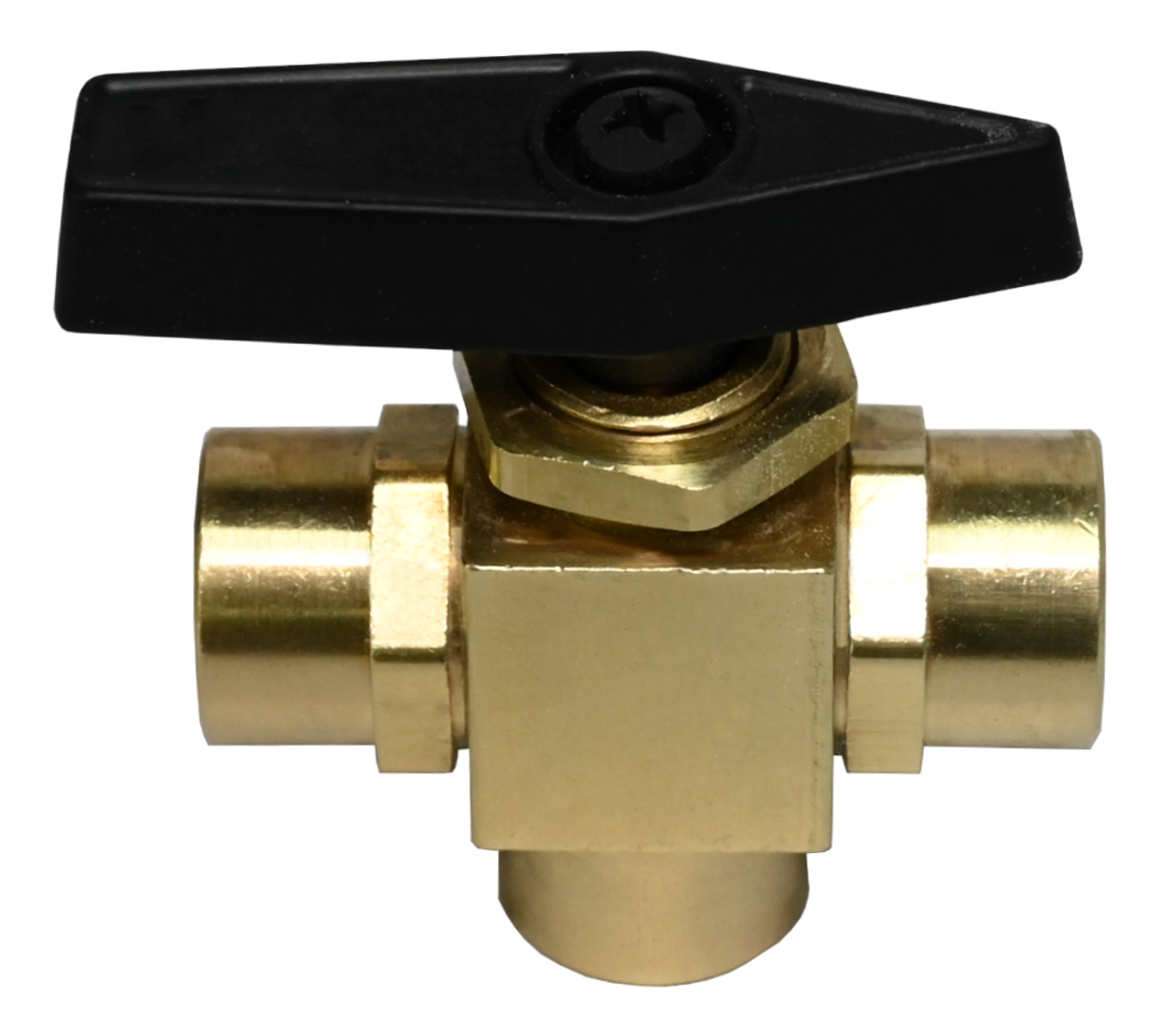 3222BV Series, FPT x FPT x FPT Brass 3-Way Instrumentation Ball Valves