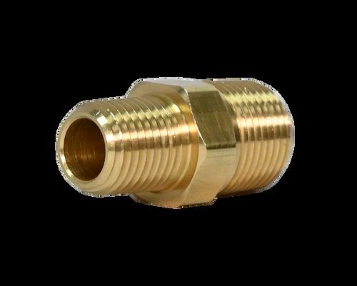 123A, Brass Reducing Hex Nipple