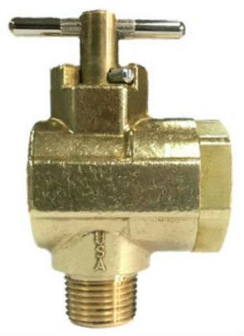 190BV, 90° Brass Ball Valve