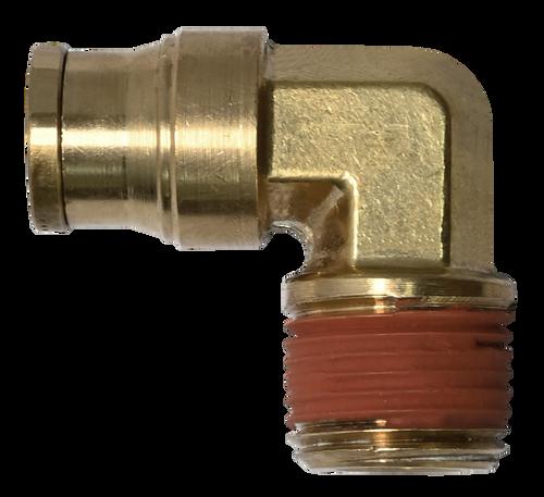 DOT PUSH TO CONNECT AIR BRAKE MALE CONNECTOR 1//4 X 1//4 MNPT BRASS/<268PPDOT-4B