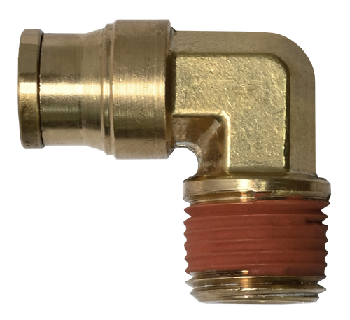 269PPDOT, Brass DOT Push to Connect 90° Male Elbow