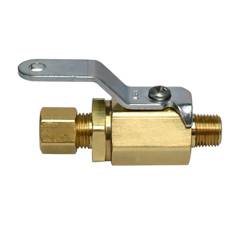 353BV, Brass Compression x Male NPT Mini Ball Valve