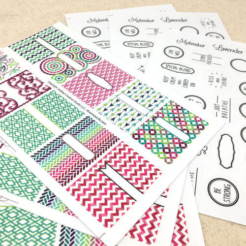 Fun Peel 'n' Stick Lip Balm Tube or Essential Oil Inhaler Labels & Stickers - 6 pages/38 Designs