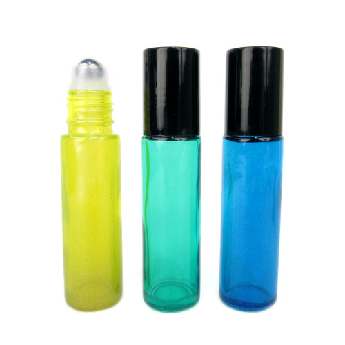 10ml Island Color Roll On Bottle with Stainless Steel Ball - Set of 3