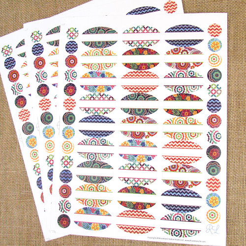 Kaleidoscope Weatherproof Poly Labels for Essential Oil Products - 81 Labels