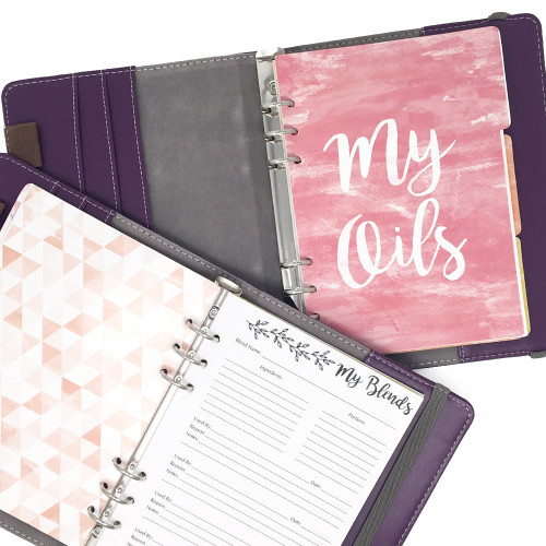 Purple Medallion Essential Oil Companion Organizer - Aromatherapy DIY Journal Notebook