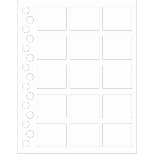Clear Rectangle Weatherproof Label Protectors  - 45 Rectangles + 45 Bottle Top Rounds