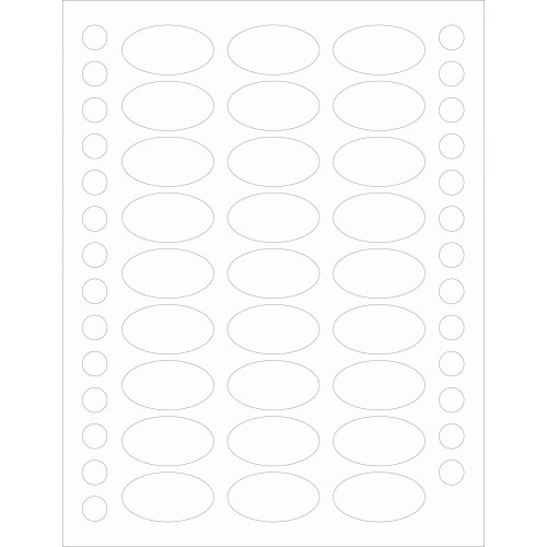 Clear Oval Weatherproof Label Protectors for Essential Oil Products - 81 Labels + 81 Bottle Top Rounds