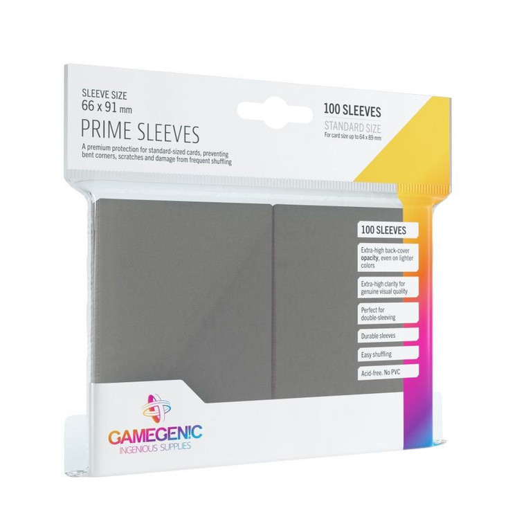 Prime Gray Sleeves (100pk) - GameGenic