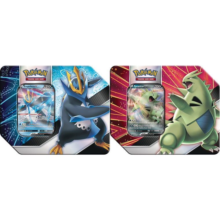 Empoleon & Tyranitar Tins - Pokemon