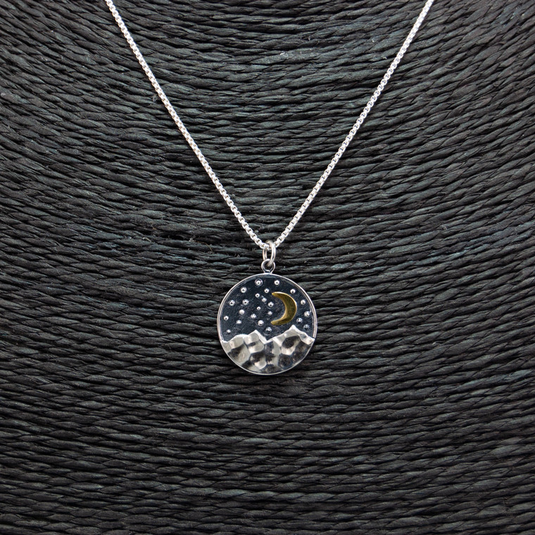 Moon Over The Mountain Necklace