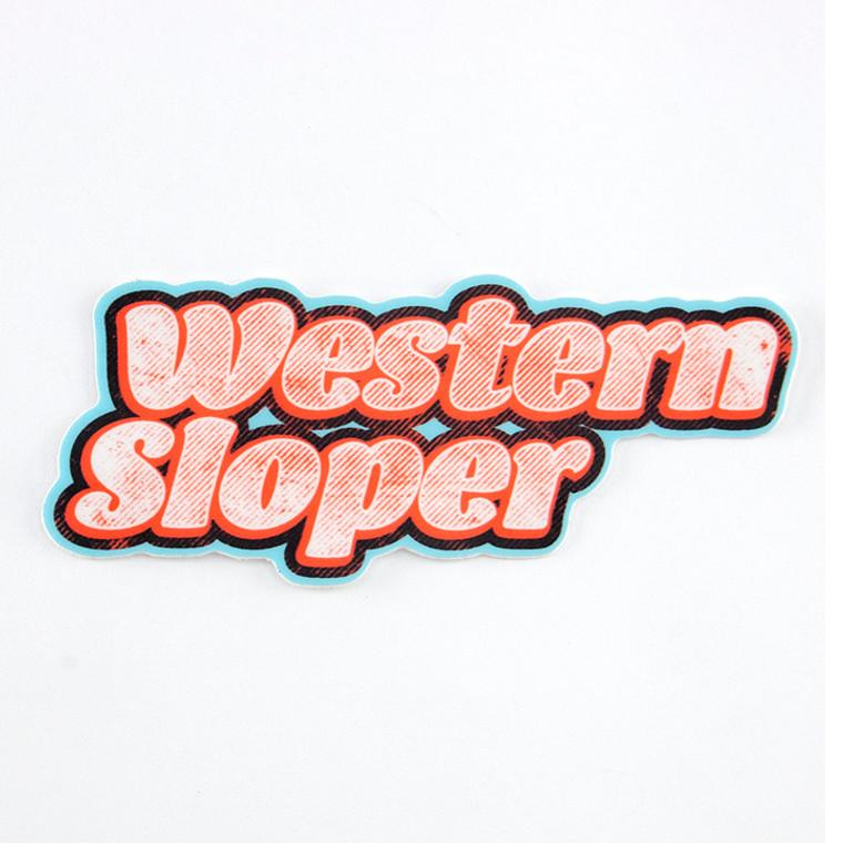 Western Sloper Text Sticker