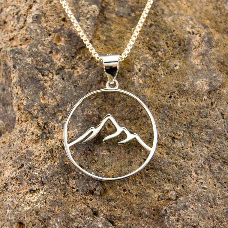 Elevation Mountain Necklace