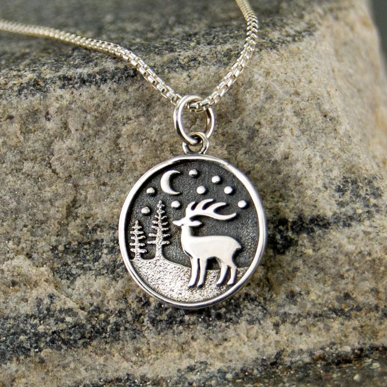 Night Deer Necklace