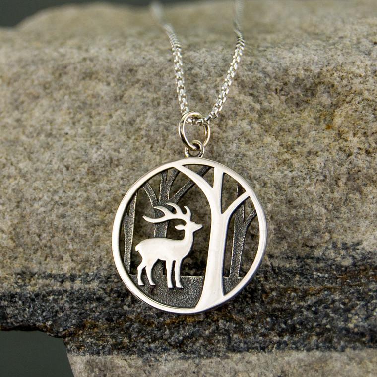 Woodland Deer Necklace