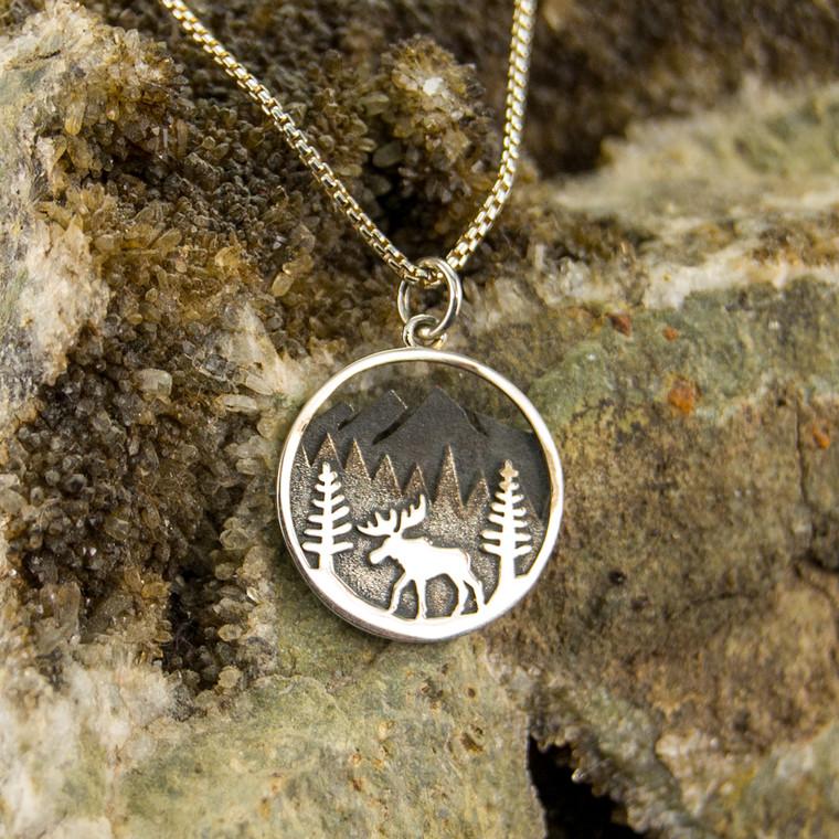 Woodland Moose Necklace