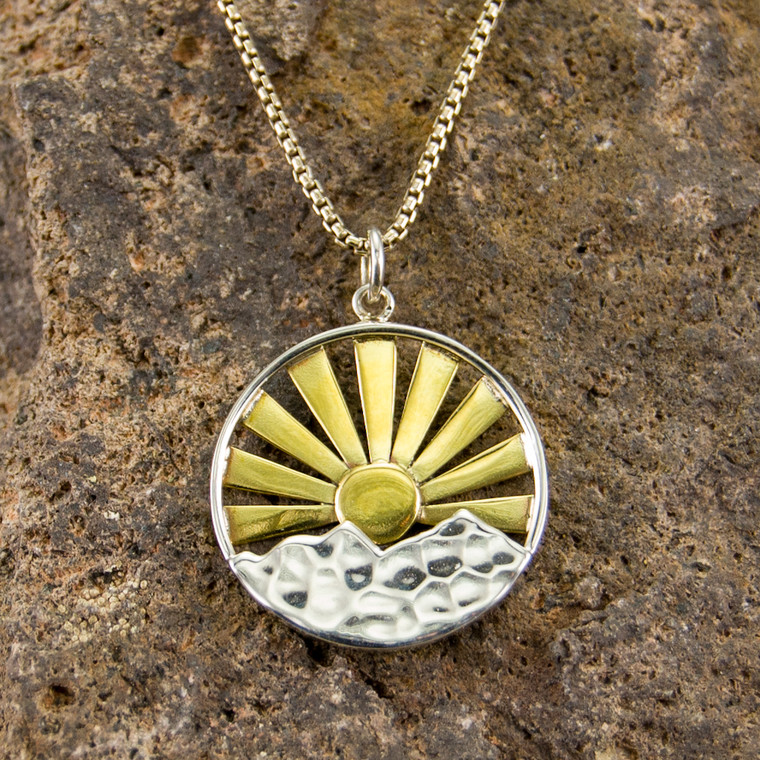 Sun Joy Mountain Necklace