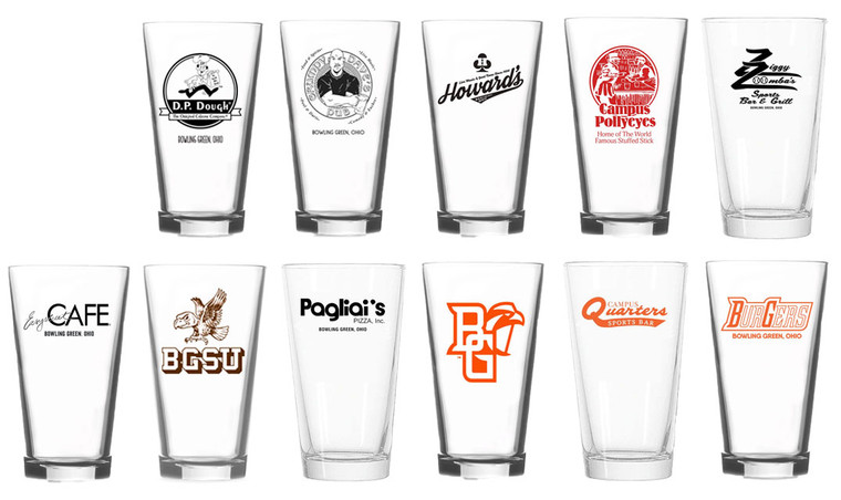 The Ultimate Bowling Green Pint Glass Set of 11