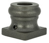 2GR900 Flat Shoe, 16mm for Round Balusters, Shown in Pewter