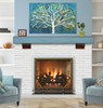 """The Shenandoah Shelf, 48"""" Riviera Distressed, Life Style View"""