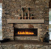 The Cades Pallet Fireplace Mantel Shelves, Life Style View