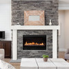 Zachary Non-Combustible Fireplace Mantel Surround Salt (Lifestyle View1)