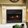 "The Classique Fireplace Mantel Surround, 56"" (140-56), Life Style View"