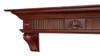 The Devonshire 416-72 Mantel Shelf, Left View with Corbels