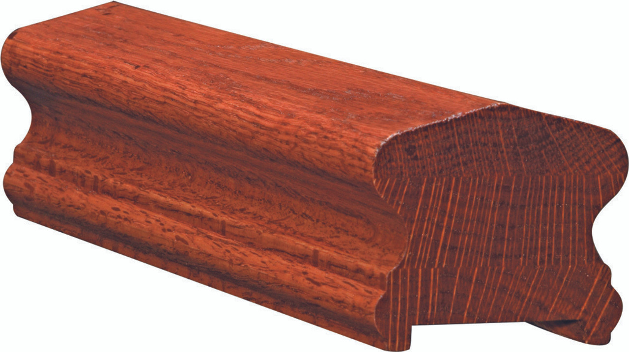 6910P Red Oak Plowed Handrail