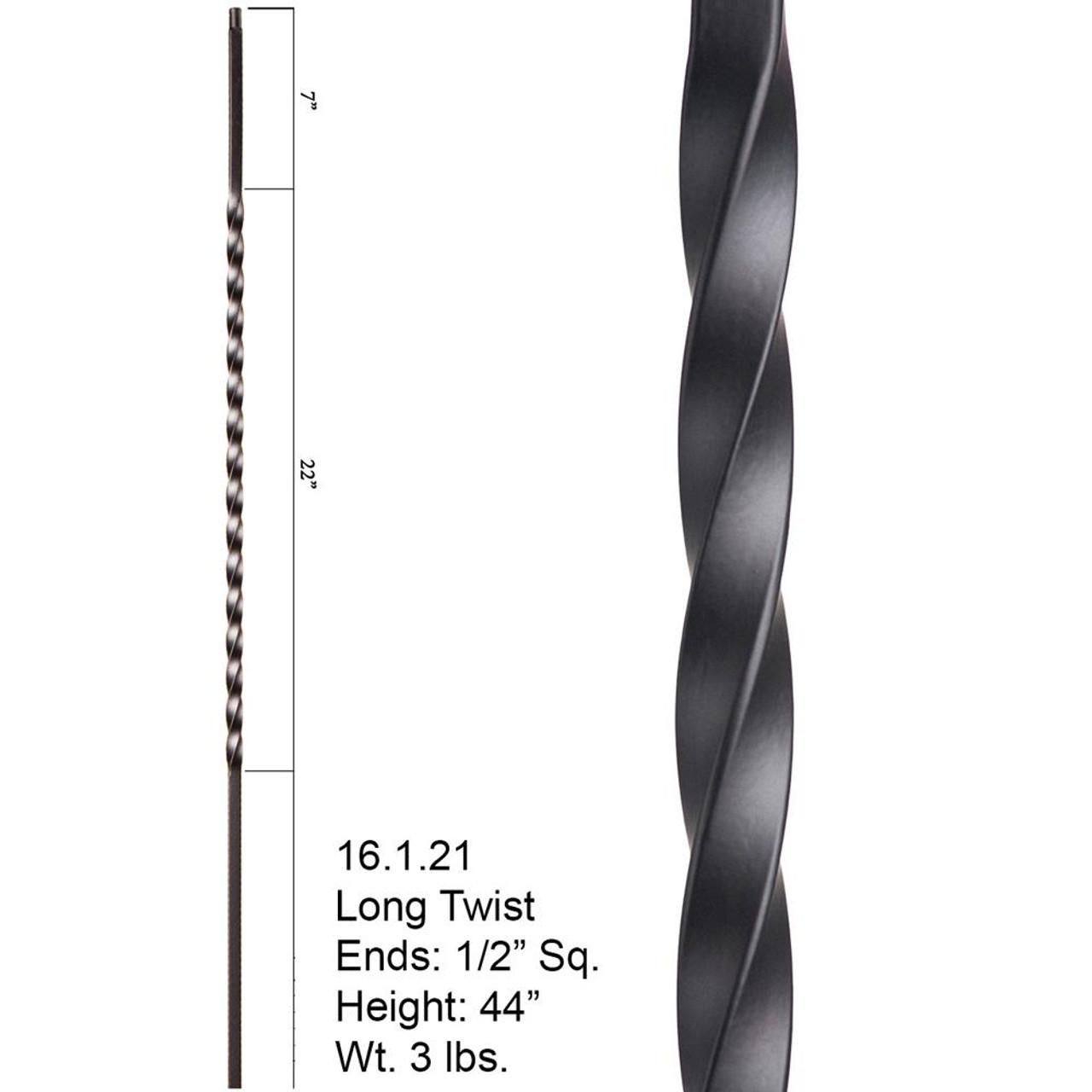 """HF16.1.21 Large 22"""" Twist Iron Baluste"""