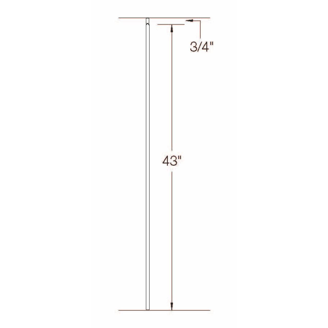 T-01 12mm Plain Bar, Tubular Steel Dimensional Information