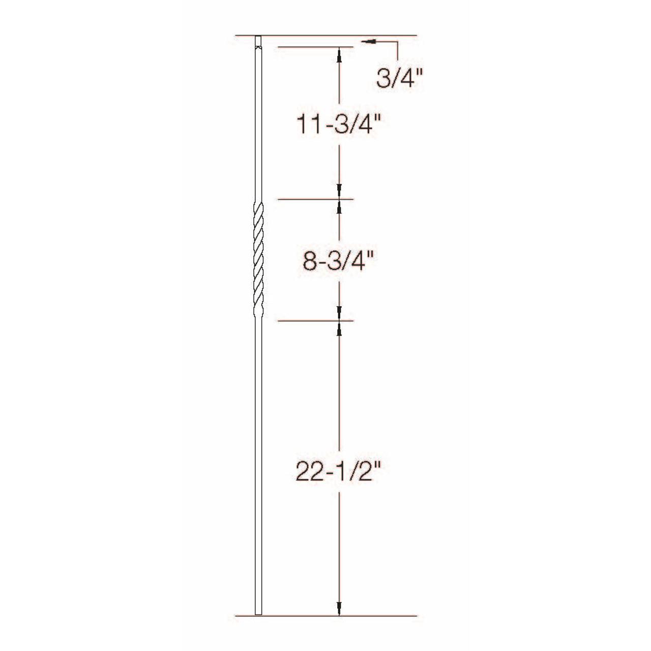 T-02 Single Twist, Tubular Steel Dimensional Information