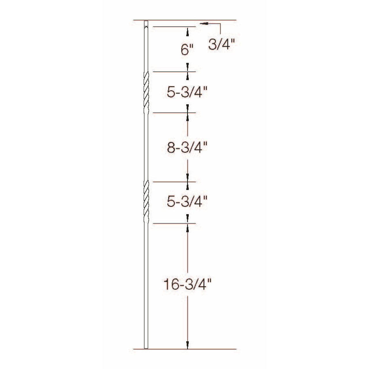T-03 Double Twist, Tubular Steel Dimensional Information