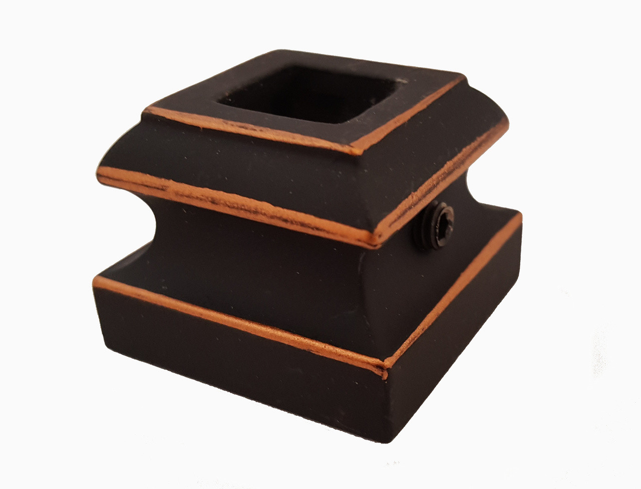 SH900 12mm Flat Shoe with Set Screw, Rubbed Copper