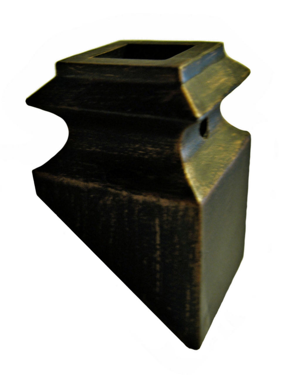 SH905 Slanted Shoe for Hammered Balusters (Rubbed Bronze pictured)