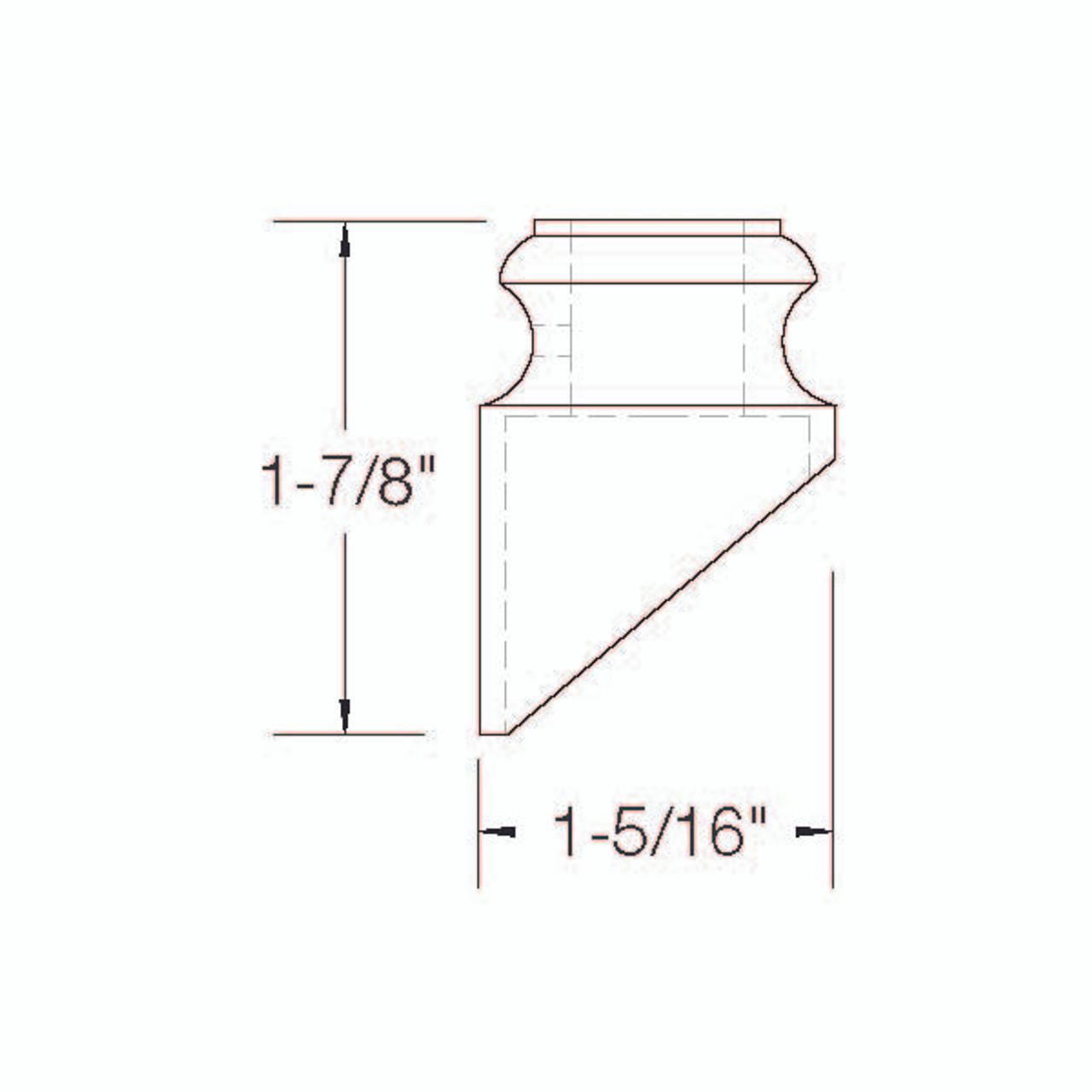 SH905 Slanted Shoe Dimensional Information