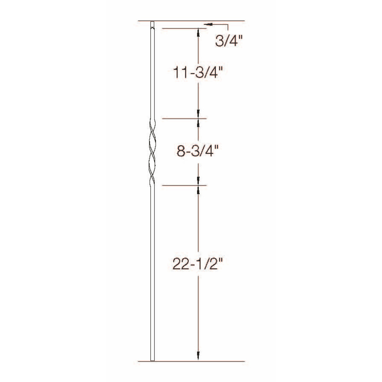 T-06 Single Ribbon, Tubular Steel Dimensional Information