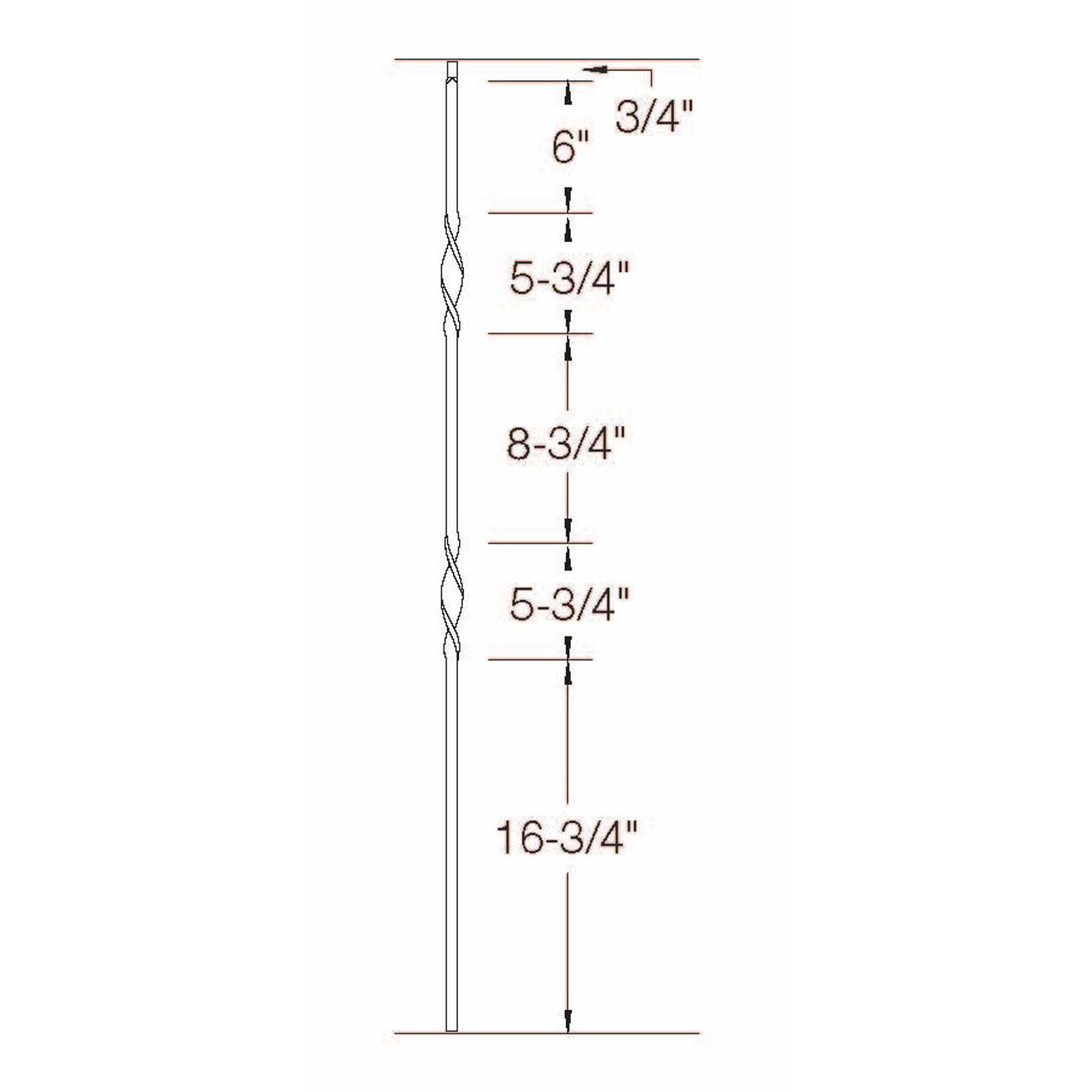 T-07 Double Ribbon, Tubular Steel Dimensional Information