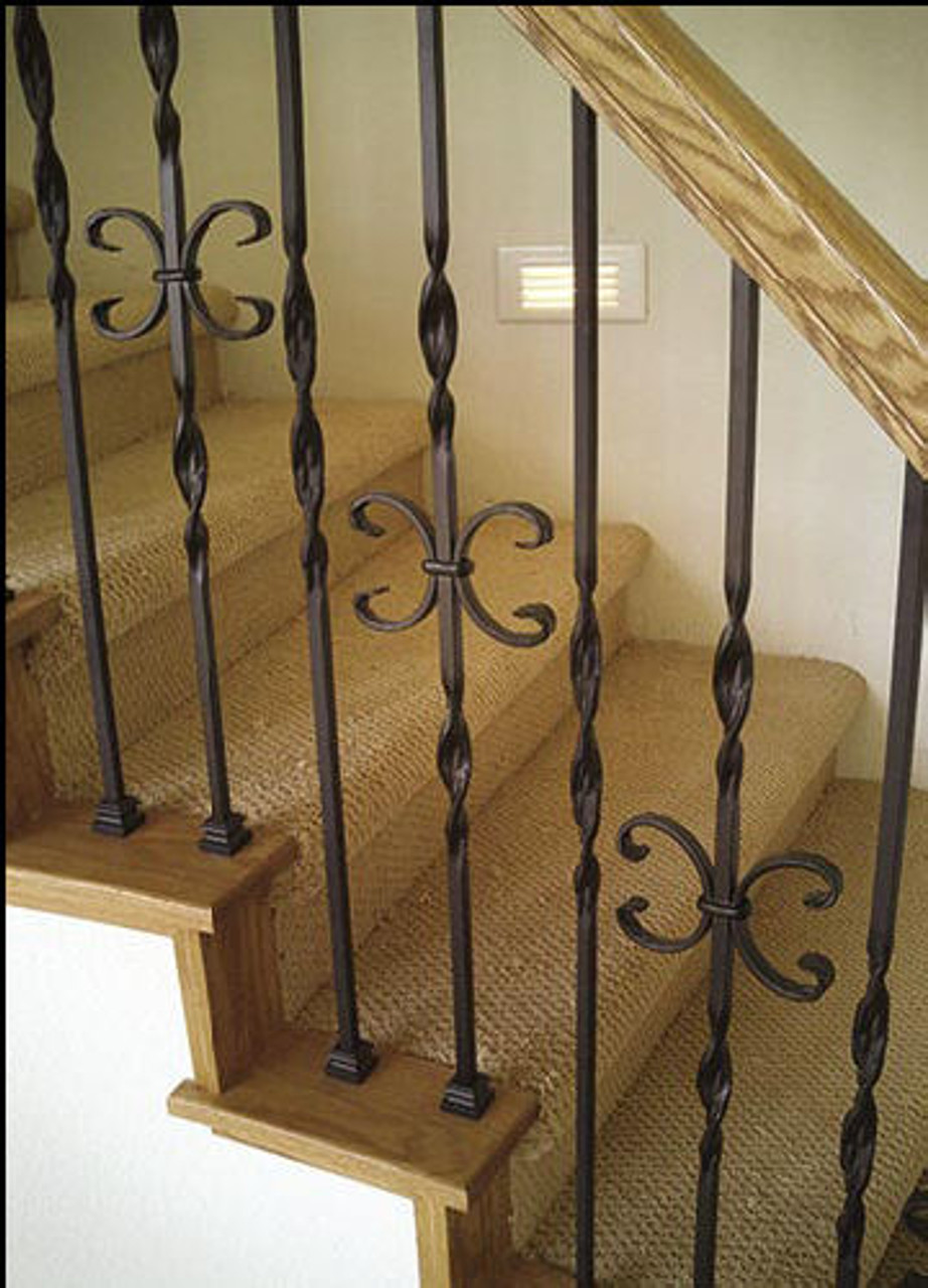 T-10 Single Butterfly, Double Ribbon, Tubular Steel Installed Staircase