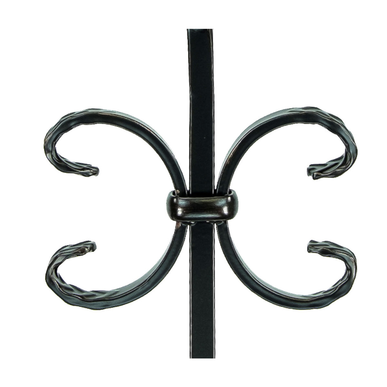 T-11 Double Butterfly, Single Ribbon, Tubular Steel Close Up