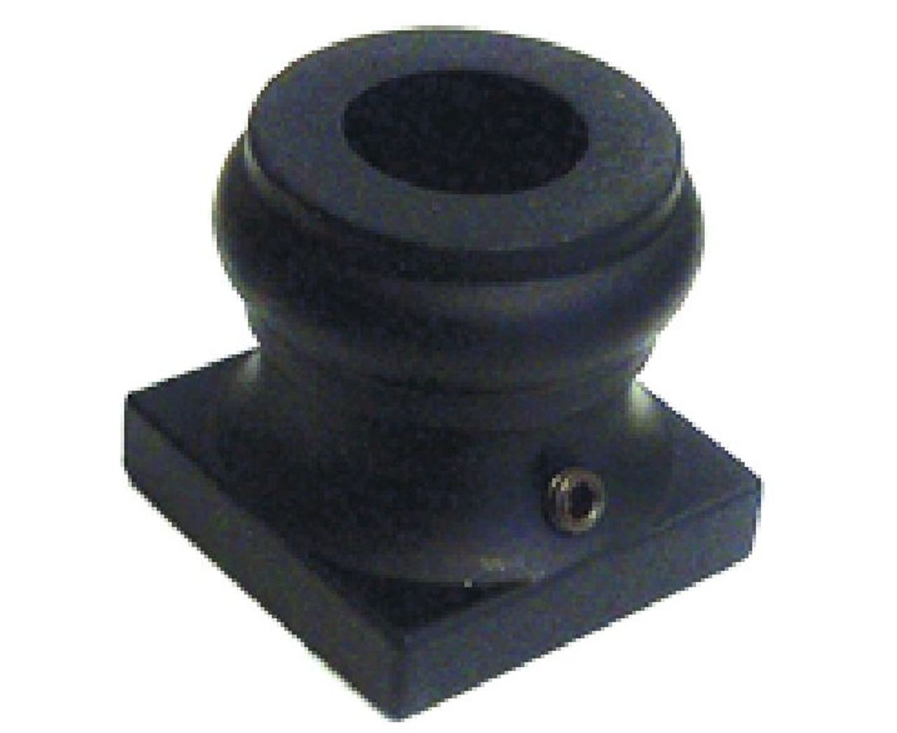 2GR900 Flat Shoe, 16mm for Round Balusters, Shown in Satin Black