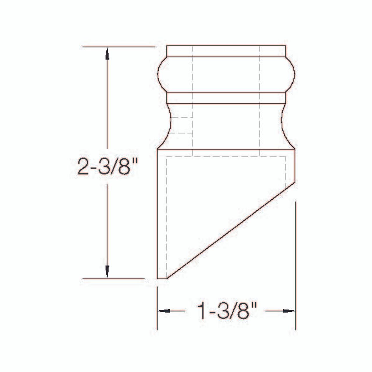 2GR904 Slated Shoe Dimensional Information