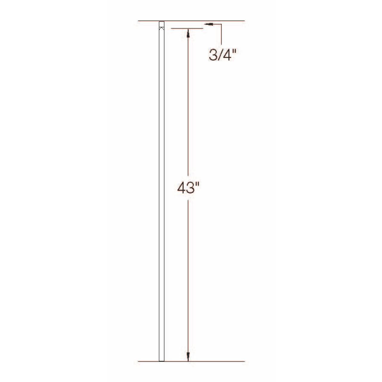 2G01 16mm Plain Bar, Tubular Steel Dimensional Information