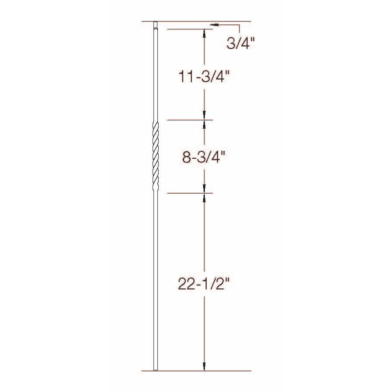 2G02 16mm Single Twist, Tubular Steel Dimensional Information