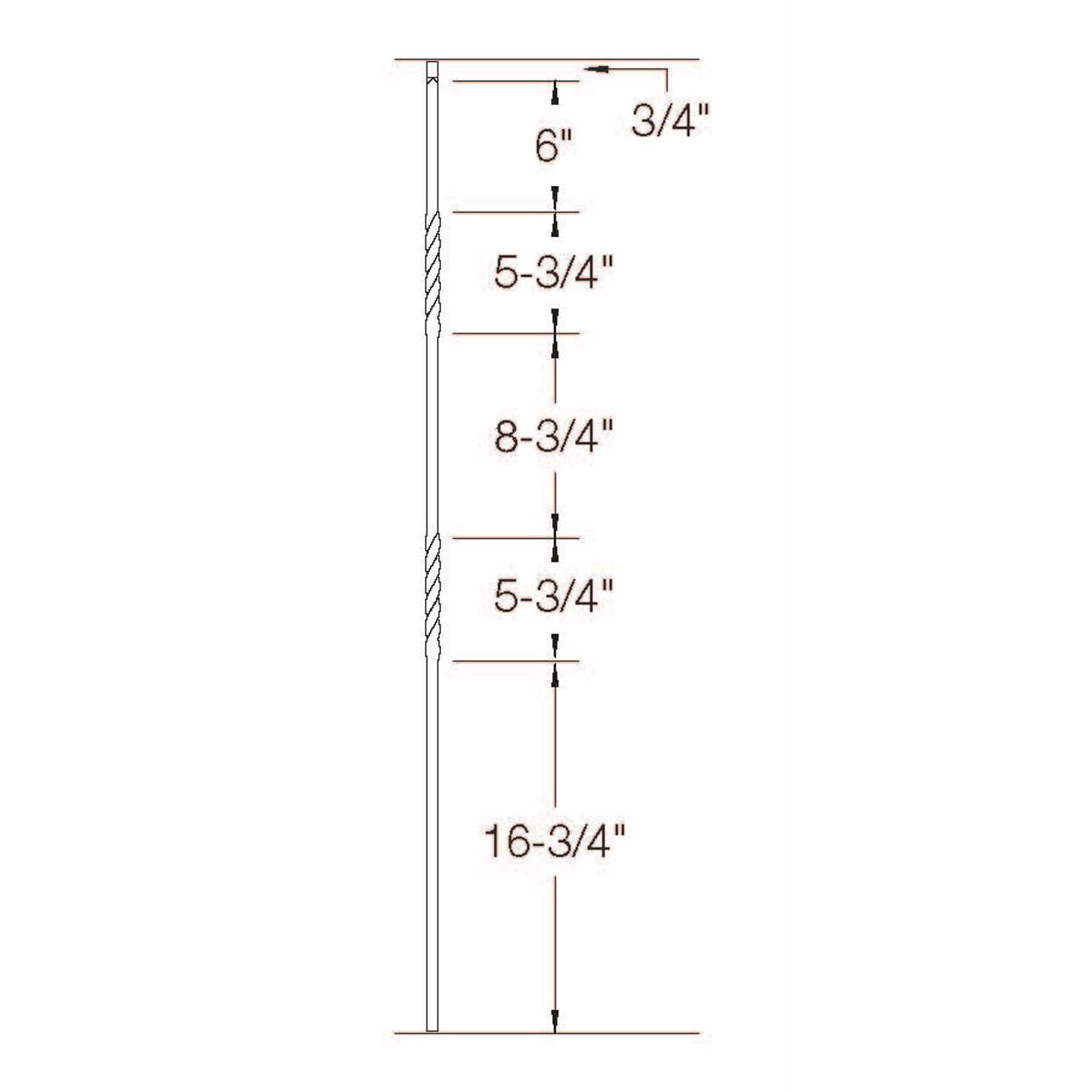 2G03 16mm Double Twist, Tubular Steel Dimensional Information