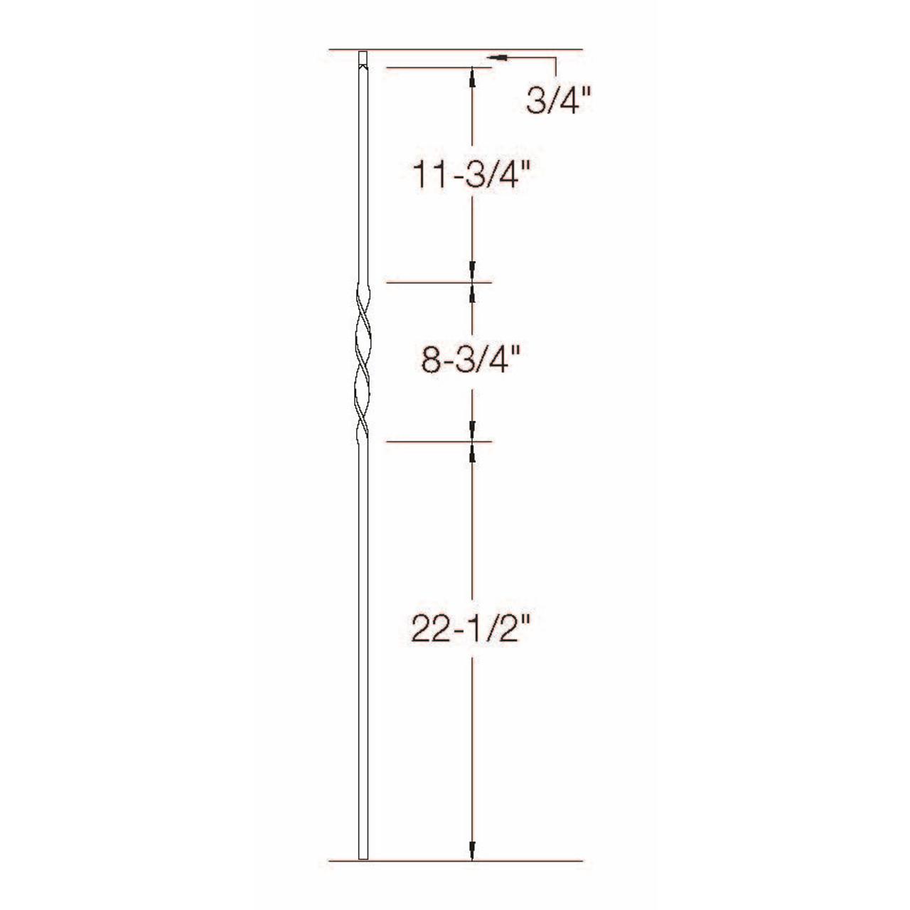 2G06 16mm Single Ribbon, Tubular Steel  Dimensional Information