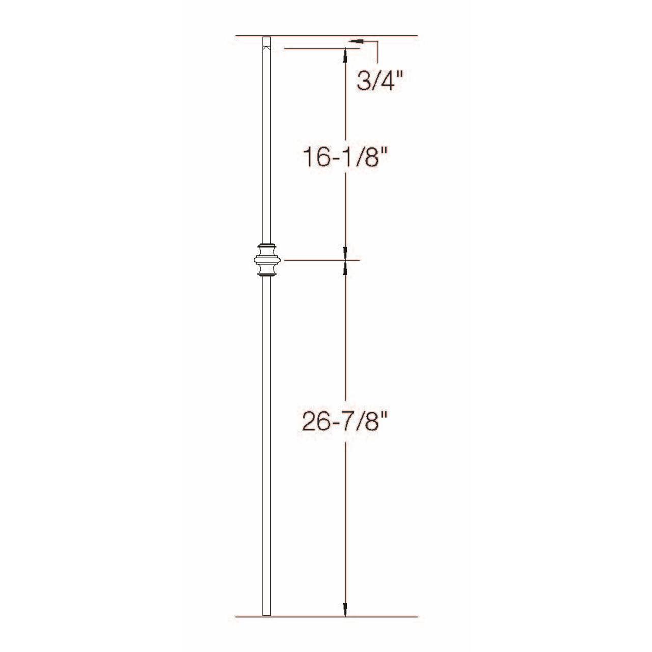 2G60 16mm Single Knuckle, Tubular Steel Dimensional Information