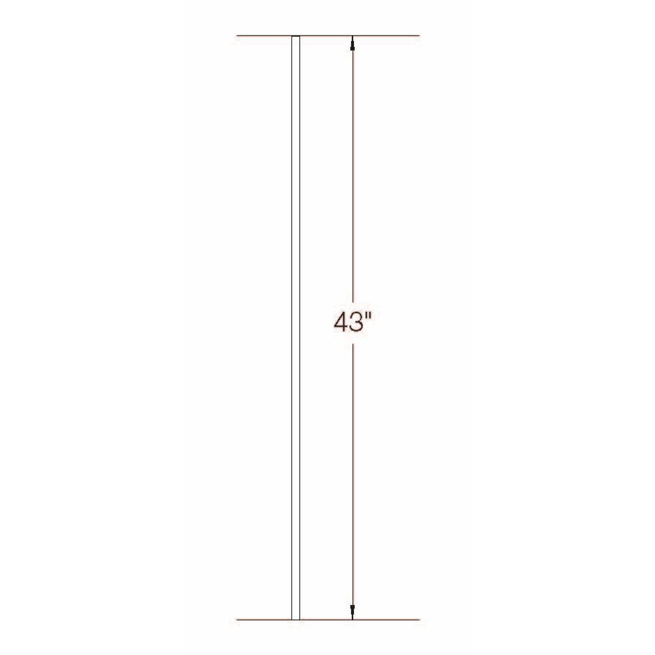 2GR01 16mm Round Plain Bar, Tubular Steel Dimensional Information