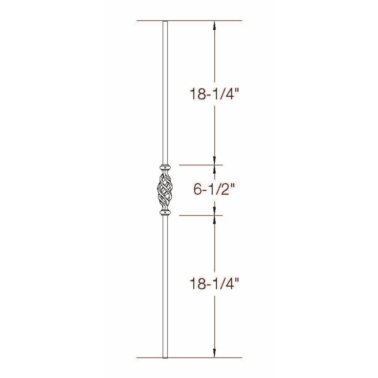 2GR11 16mm Round Single Basket, Tubular Steel Dimensional Information
